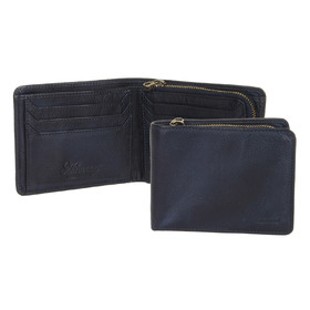 Бумажник Ashwood Leather 1361 Navy. Общее фото
