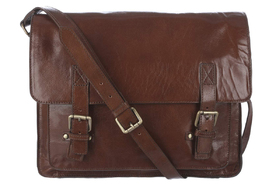 Сумка из кожи Ashwood Leather Josh Chestnut Brown