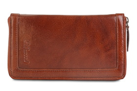 Клатч Ashwood Leather Travel Wallet Chestnut Brown. Вид спереди