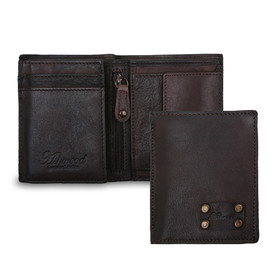 Бумажник Ashwood Leather 1779 Brown. Вид c разворотом