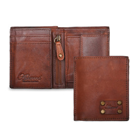 Бумажник Ashwood Leather 1779 Rust. Вид c разворотом