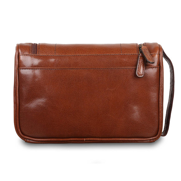Несессер Ashwood Leather 89145 Chestnut Brown. Вид сзади