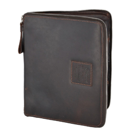 Папка Ashwood Leather 1660 Brown. Вид спереди