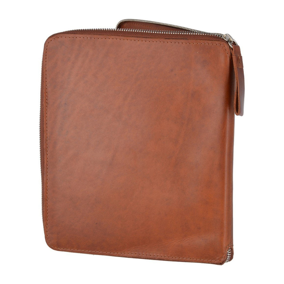 Папка Ashwood Leather 1660 Chestnut. Вид сзади