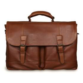 Портфель Ashwood Leather Henry Honey. Вид спереди