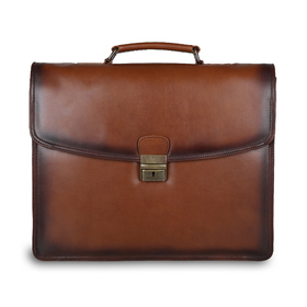 Портфель Ashwood Leather Orlando Tan. Вид спереди