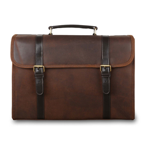 Портфель Ashwood Leather Walter Tornado. Вид спереди
