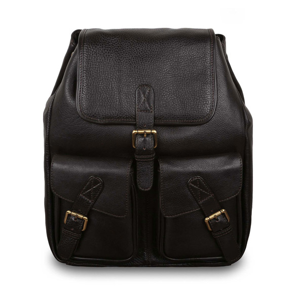 Рюкзак Ashwood Leather Rucksack Dark Brown. Вид спереди