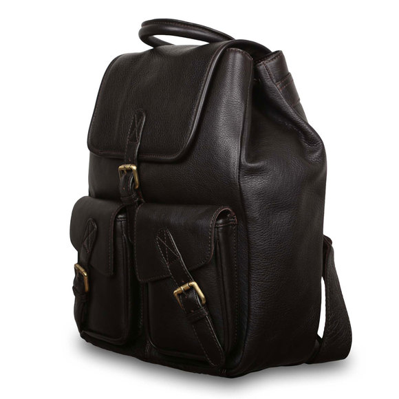 Рюкзак Ashwood Leather Rucksack Dark Brown. Вид сбоку