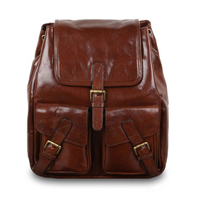 Рюкзак Ashwood Leather Rucksack Chestnut Brown. Вид спереди