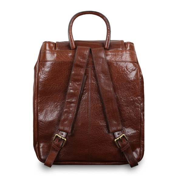 Рюкзак Ashwood Leather Rucksack Chestnut Brown. Вид сзади