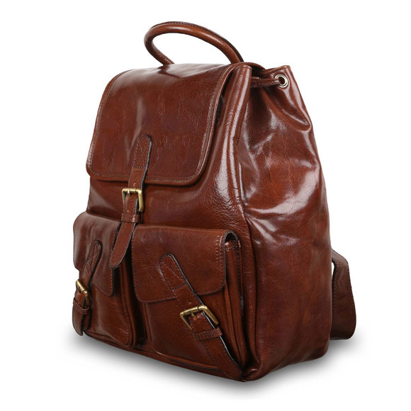 Рюкзак Ashwood Leather Rucksack Chestnut Brown. Вид сбоку