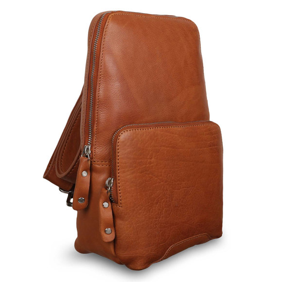 Рюкзак Ashwood Leather Slingo Tan. Вид сбоку