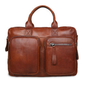 Сумка Ashwood Leather 1662 Chestnut. Вид спереди