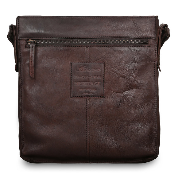 Сумка Ashwood Leather 7994 Brown. Вид сзади