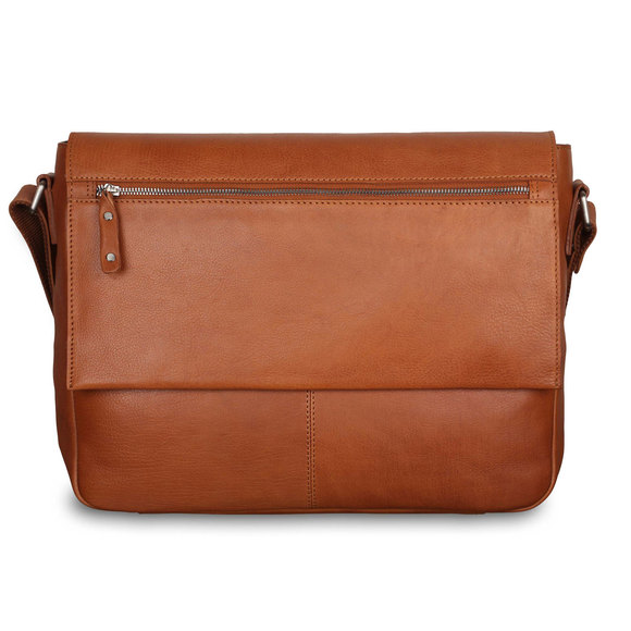 Сумка Ashwood Leather Baker Tan. Вид спереди