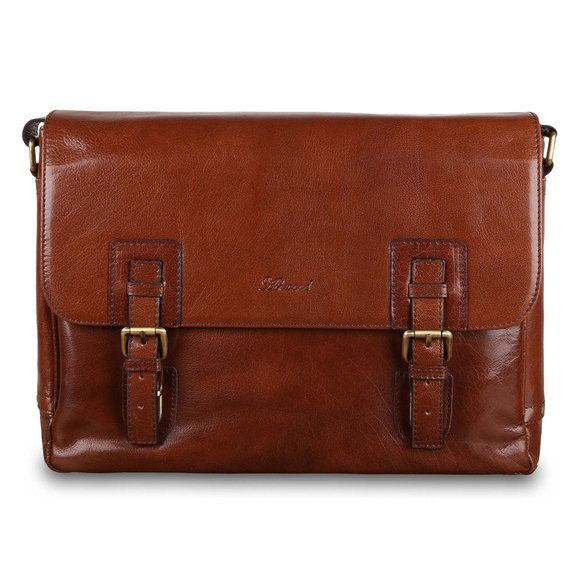 Сумка Ashwood Leather Jasper Chestnut Brown. Вид спереди