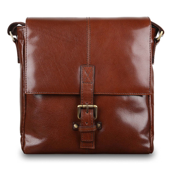 Сумка Ashwood Leather Murphy Chestnut Brown. Вид спереди