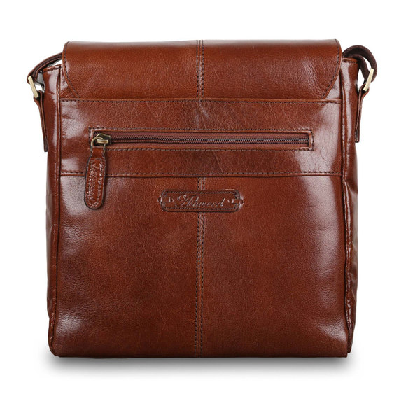 Сумка Ashwood Leather Murphy Chestnut Brown. Вид сзади
