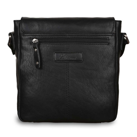 Сумка Ashwood Leather Ted Black. Вид сзади